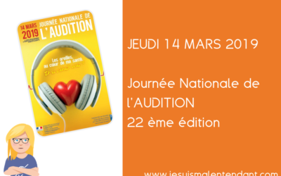 Journée Nationale de l'Audition 2019 : 22e édition